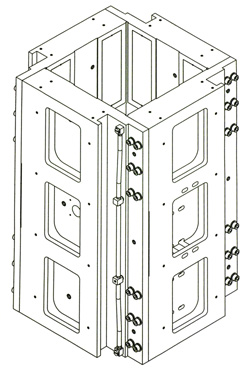Linear Air Bearing Box Slide isometric drawing
